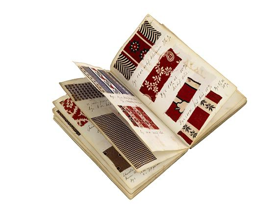 Kladde mit Textilmustern von Rosenthal, Arnold