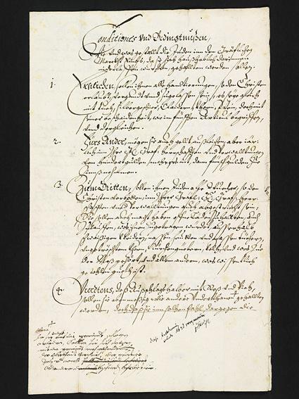Schutzbrief von Graf Kaspar von Hohenems
