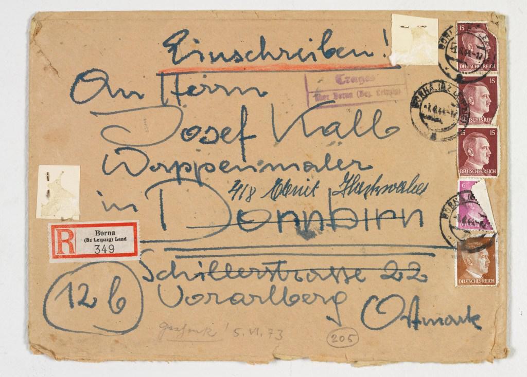 Briefkuvert adressiert an seinen Vater Josef Kalb von Edmund Kalb, 1900 - 1952